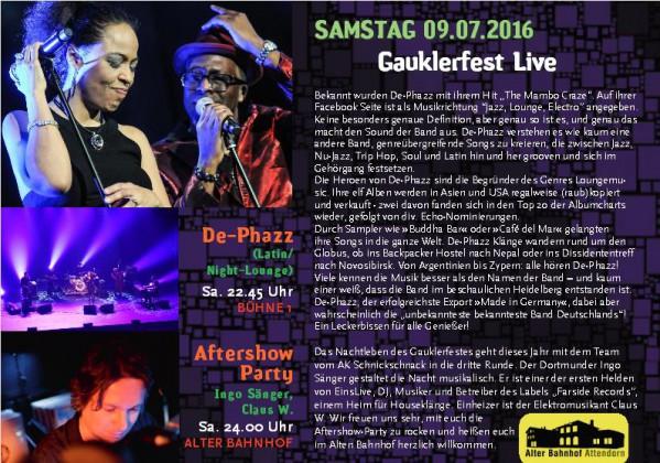 09. Juli 2016 - Gauklerfest in Attendorn - Bühne Alter Markt
